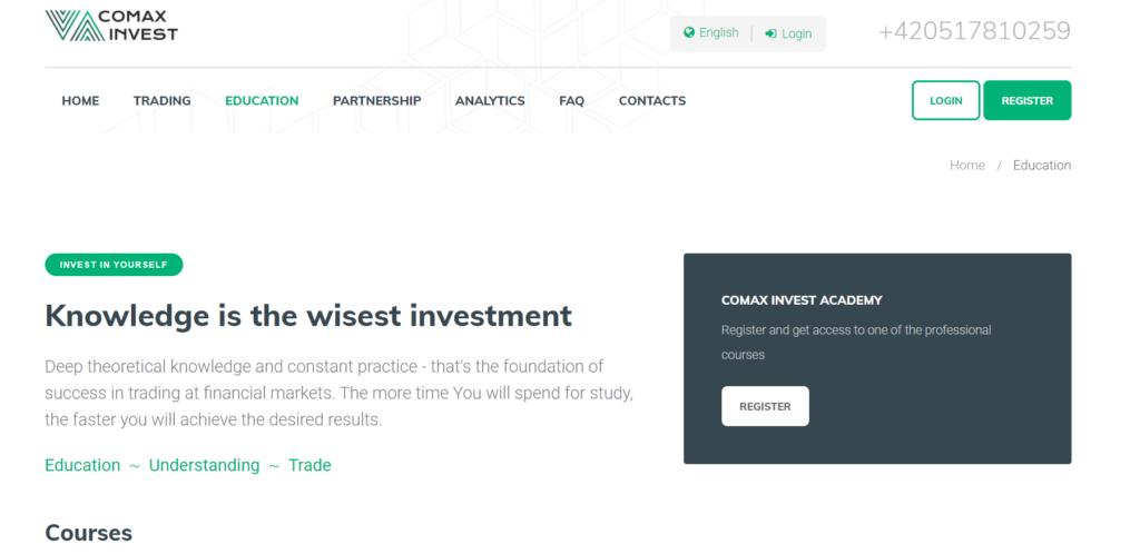 Comax Invest курсы